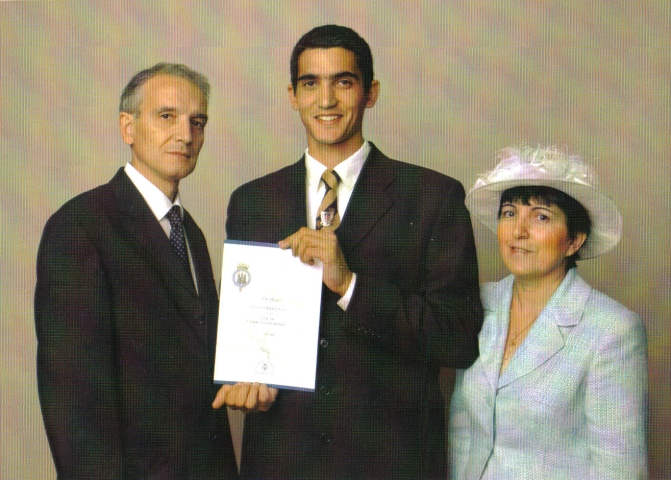 The Duke of Edinburgh's Gold Award, July 2003, L-R Mike, Eric, Aida Pettett